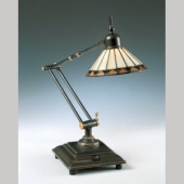 Quoizel Lighting TF7110Z Pueblo Tiffany Task Lamp | BoweryLights.com