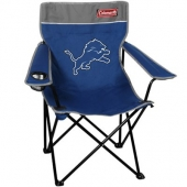 Coleman Detroit Lions Light Blue-Gray Quad Folding Chair