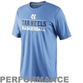 Nike UNC Team Issued Basketball Practice Performance T-Shirt | CBSSports.com Shop