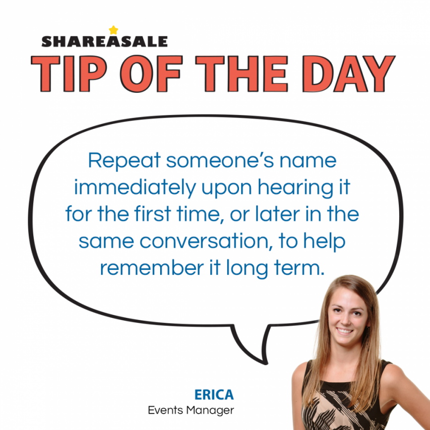 Tip of the Day: Remembering Names - ShareASale Blog