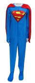 Superman Fleece Onesie Footie Pajama with Cape