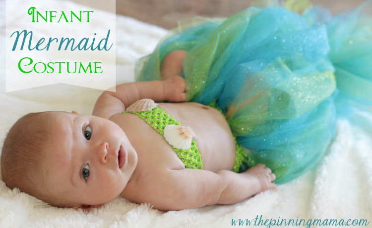 DIY Infant Mermaid Halloween Costume - The Pinning Mama