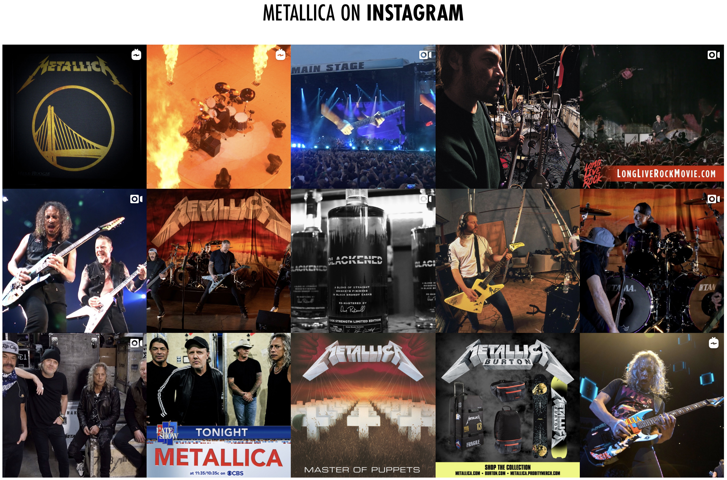 metallica on instagram