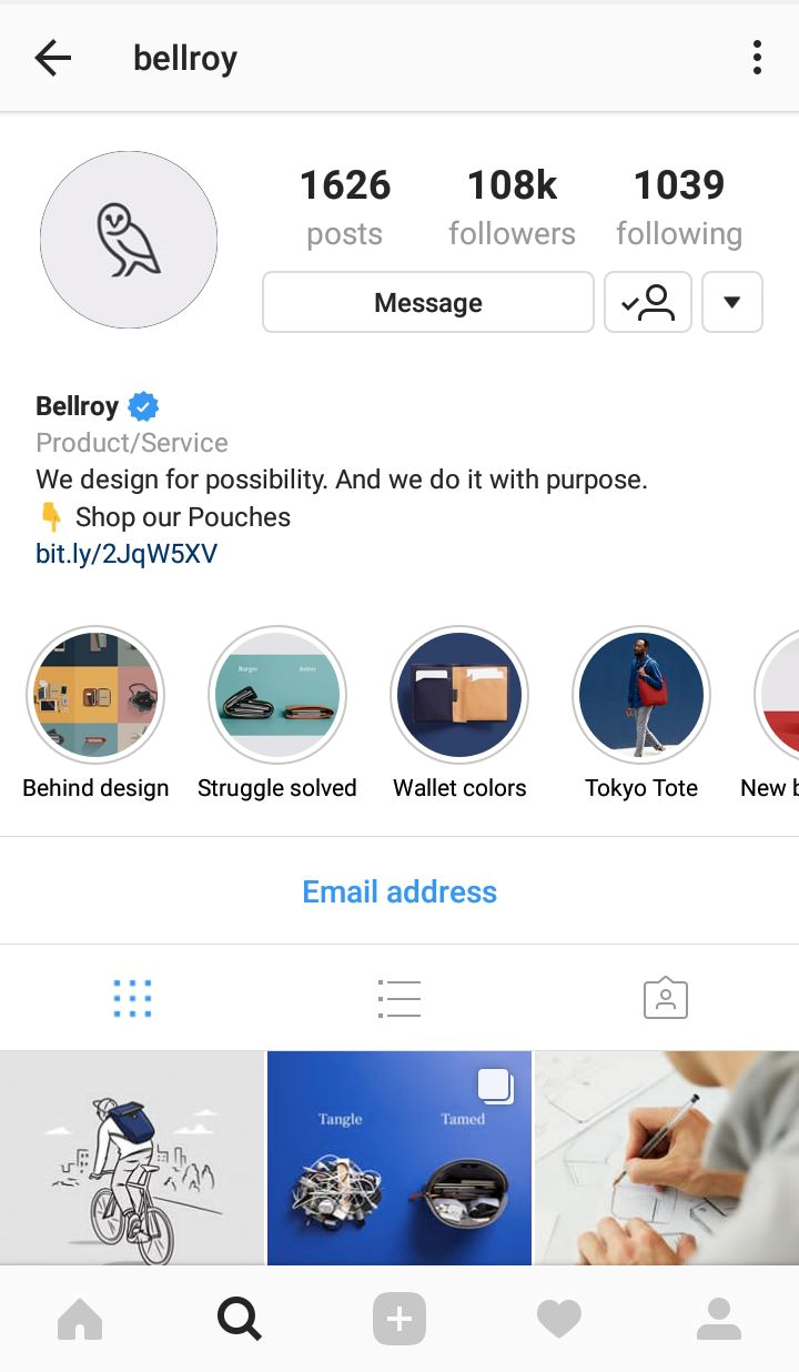 Bellroy profile