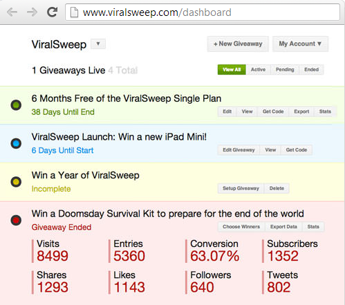 ViralSweep-sweepstakes-management
