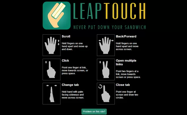 LeapTouch-browser-extension-for-Leap-Motion-device