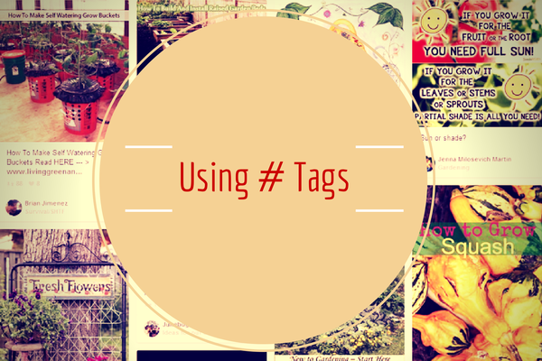 Using hashtags on Pinterest