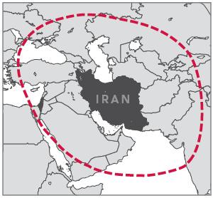 Shahab-3 Ballistic Missile Range