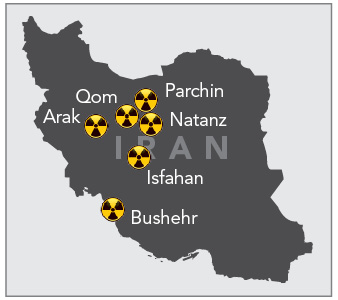 Top Nuclear Sites in Iran