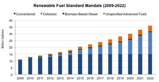 Renewable Fuel Standard Mandate (2009-2022)