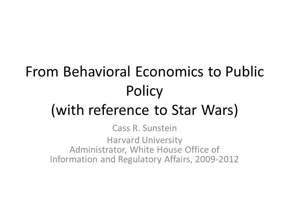 Cass Sunstein Title Slide