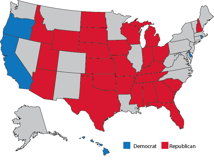 Five states have unified party control