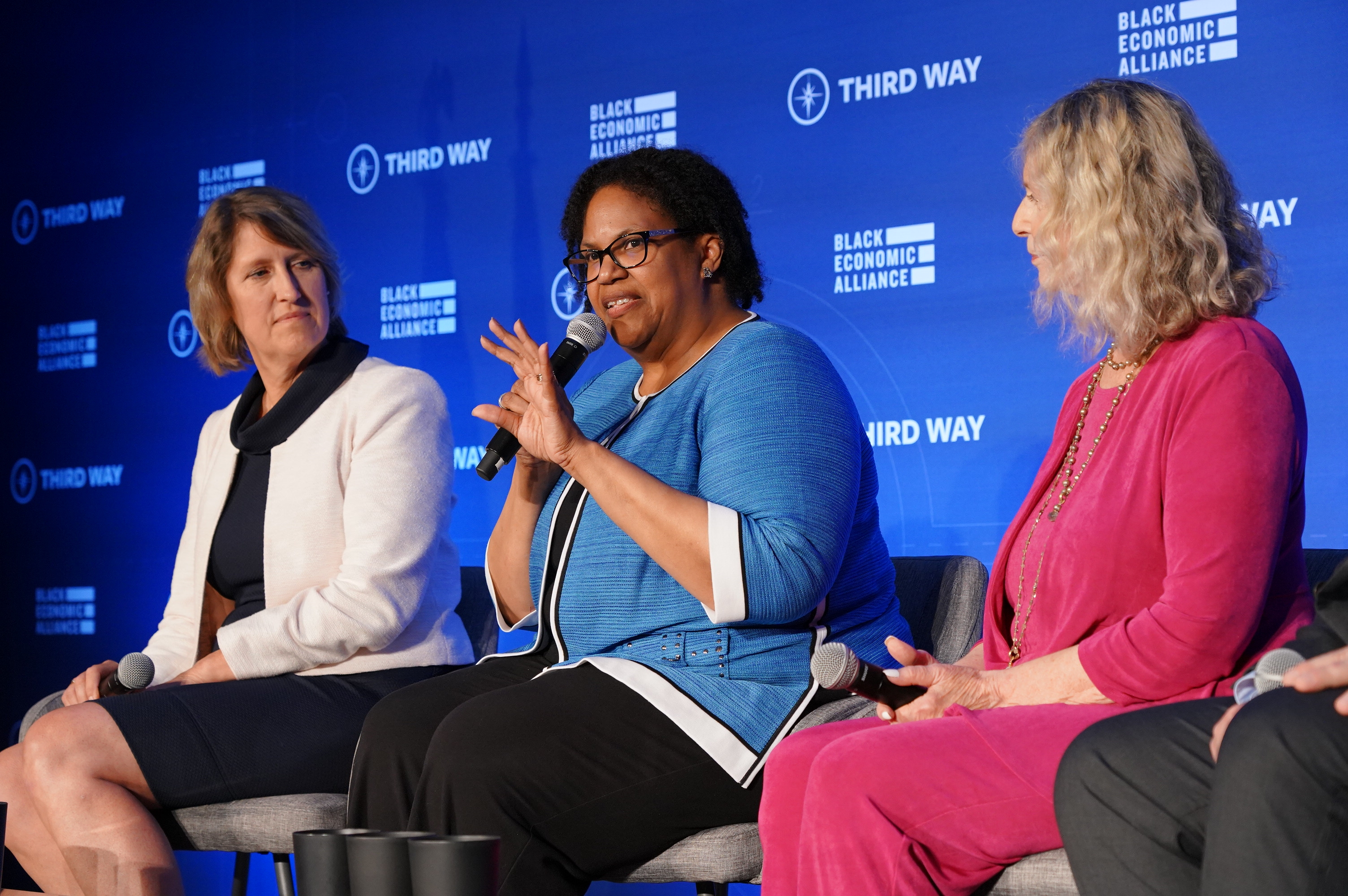 Democratic Party chairs of Blue Wall states Martha Laning, Lavora Barnes, and Nancy Patton Mills share how to win in their states