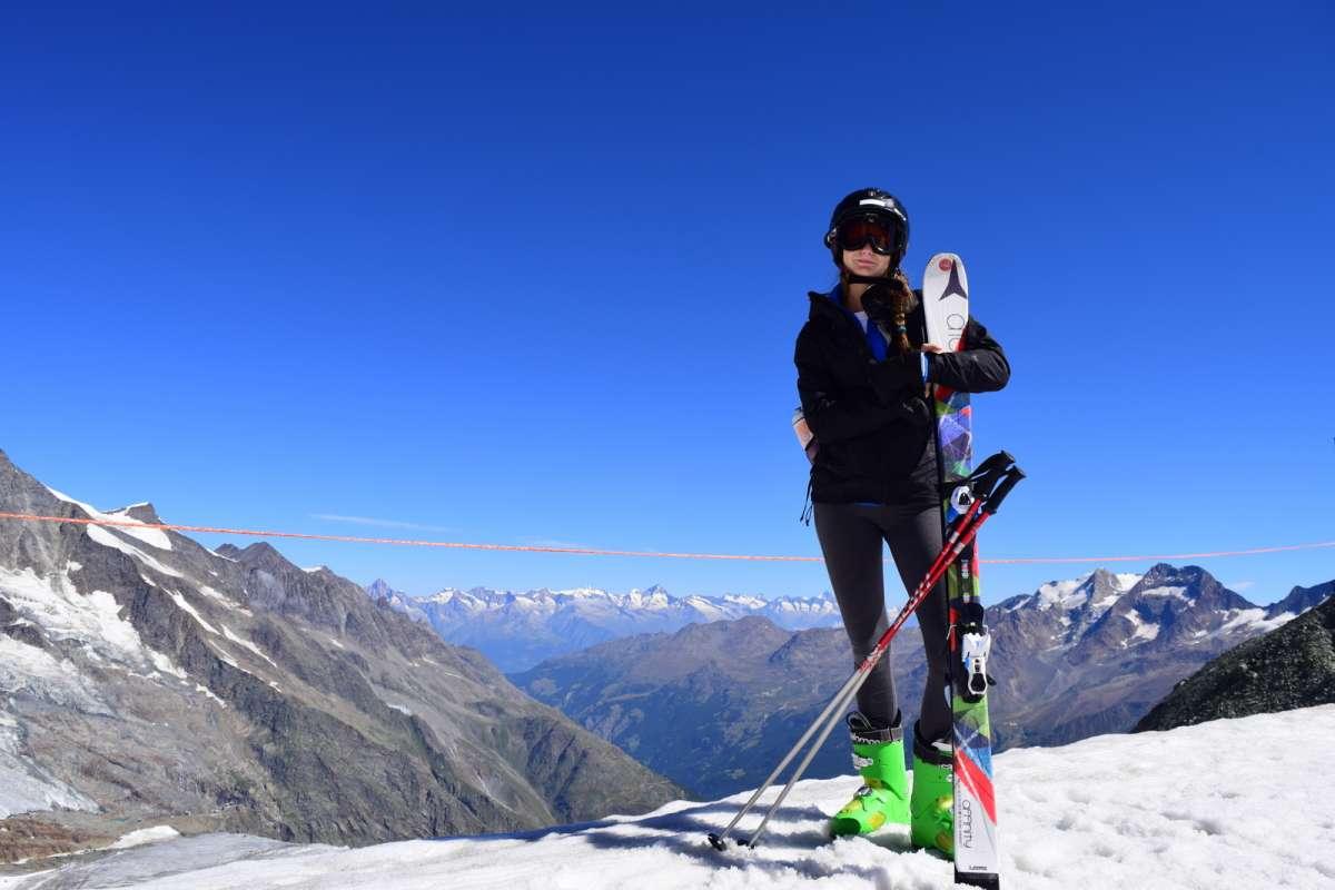Teen summer snowboarding in Switzerland on youth adventure program