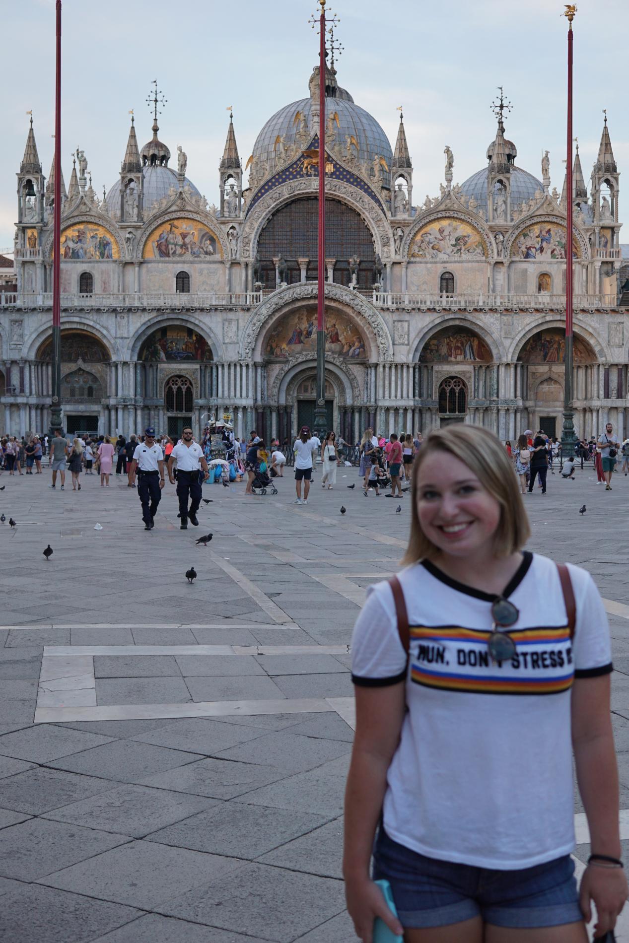 High school teens exploring Venice summer tour Italy