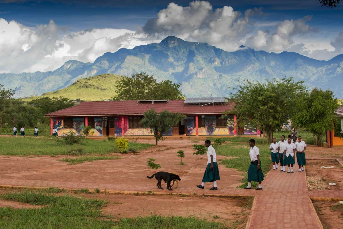Amazing views of the campus where teens participate in service work during travel program in Tanzania.