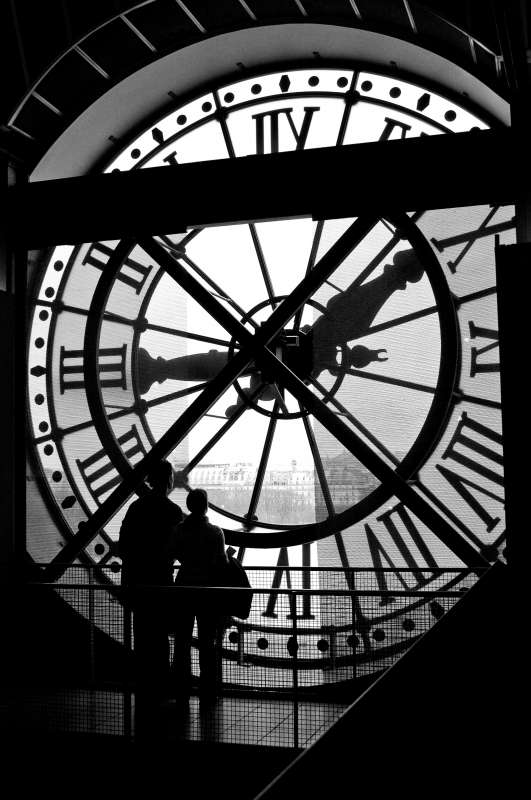 Teenage travelers at Musee d'Orsay in Paris during summer youth travel program