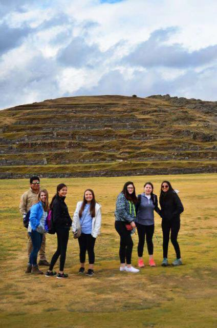 A group of students pose together on their teen tour of Peru.