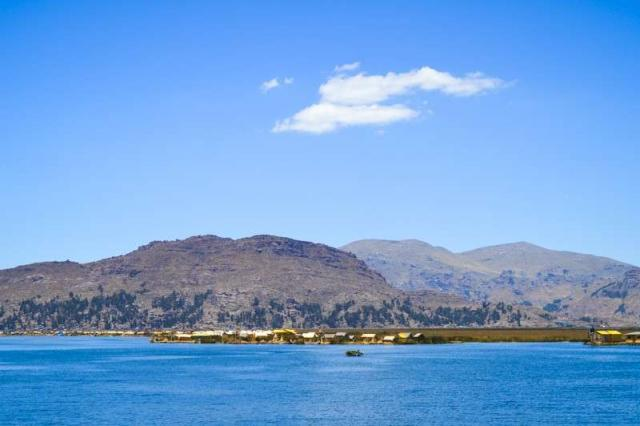 Student discover the immense Lake Titicaca on their summer travel tour of Peru.