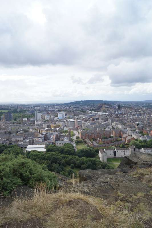 View of Edinburgh Scotland from Arthur's Seat seen on summer teen travel program