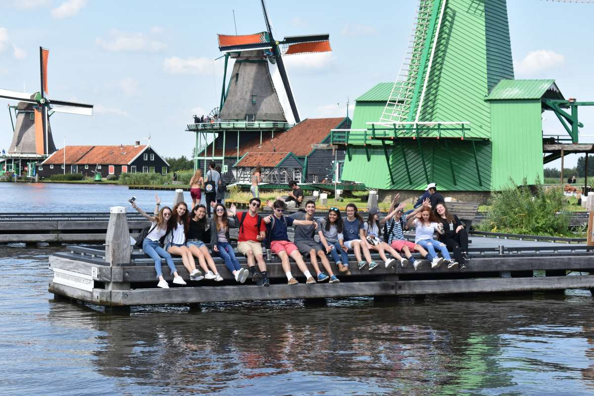 Teen travelers visit traditional Dutch village outside Amsterdam on summer travel program