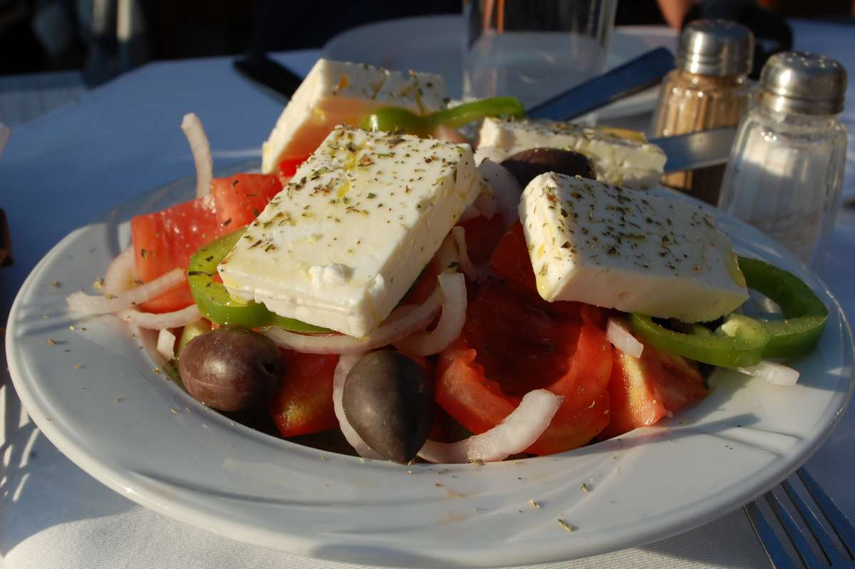 Local Greek cuisine is tasted on a summer teen tour to Greece.