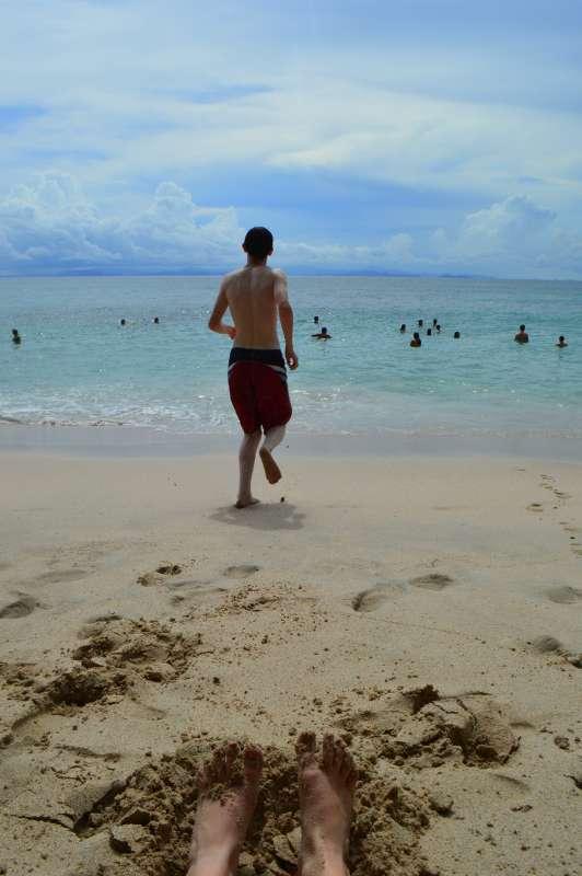 Teens enjoy the beach in Costa Rica on their summer travel tour.