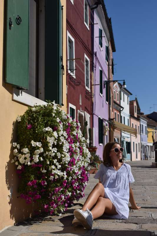 High school teen explores the island of Burano on their summer program to Italy.