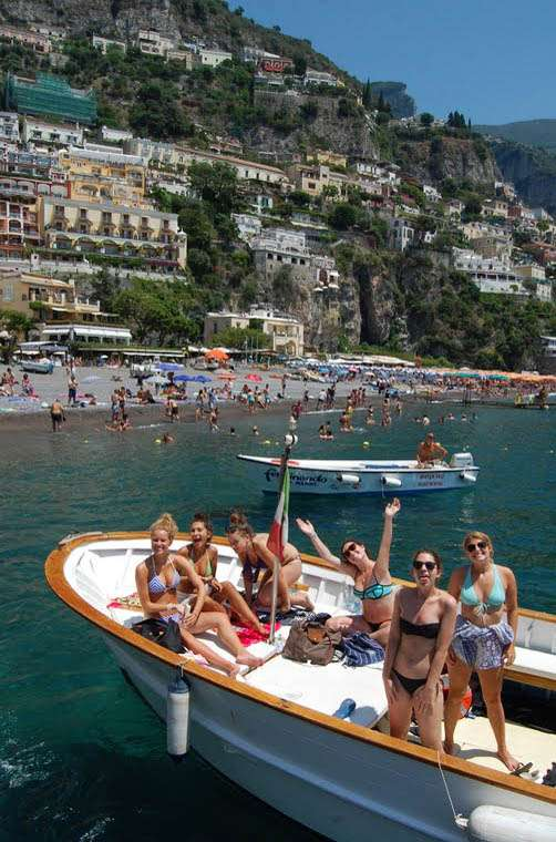 High school youth enjoy their private tour of the Amalfi Coast on their summer teen tour to Italy.