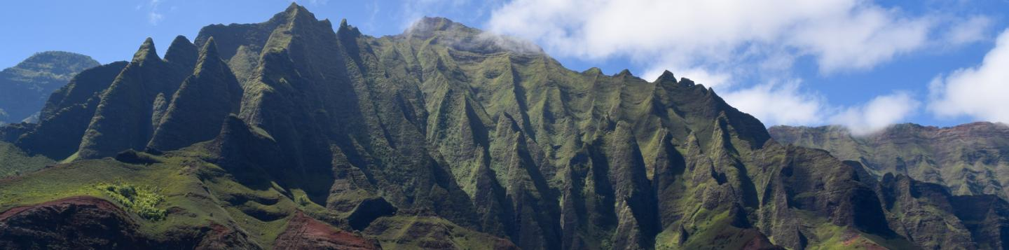 Students discover breathtaking mountains on their summer teen travel tour of Hawaii.