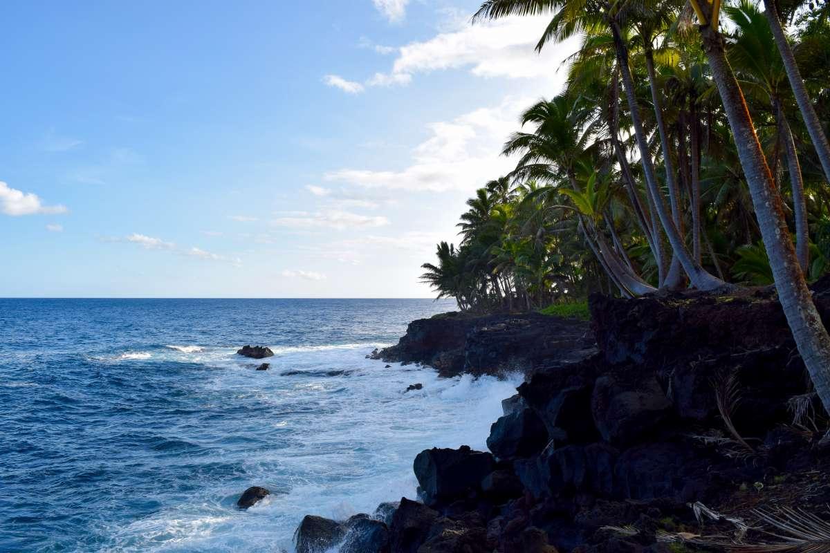 Teens enjoy tropical beaches during summer travel camp.