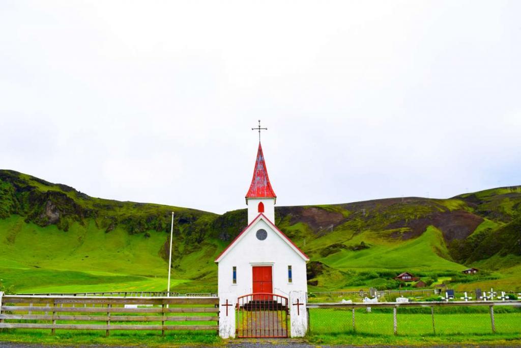 Iceland church seen on summer teen adventure travel program