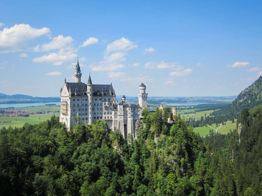 View of Bavarian castle seen by student travelers on summer youth travel program