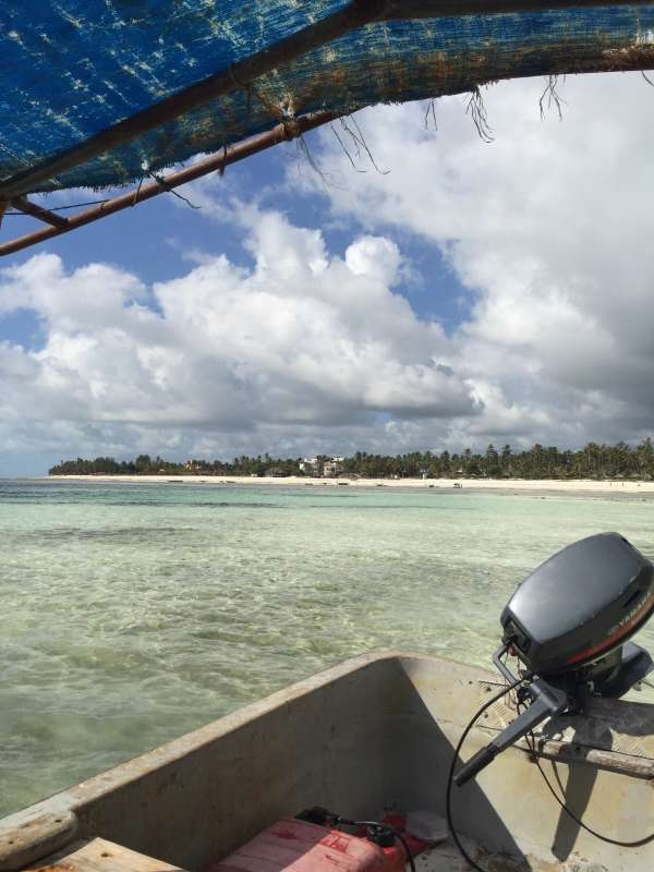 Students travel by boat in Zanzibar on summer service and safari tour of Tanzania.