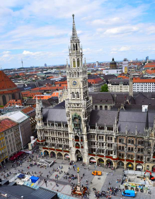 Marienplatz in Munich as seen from summer teen travel program