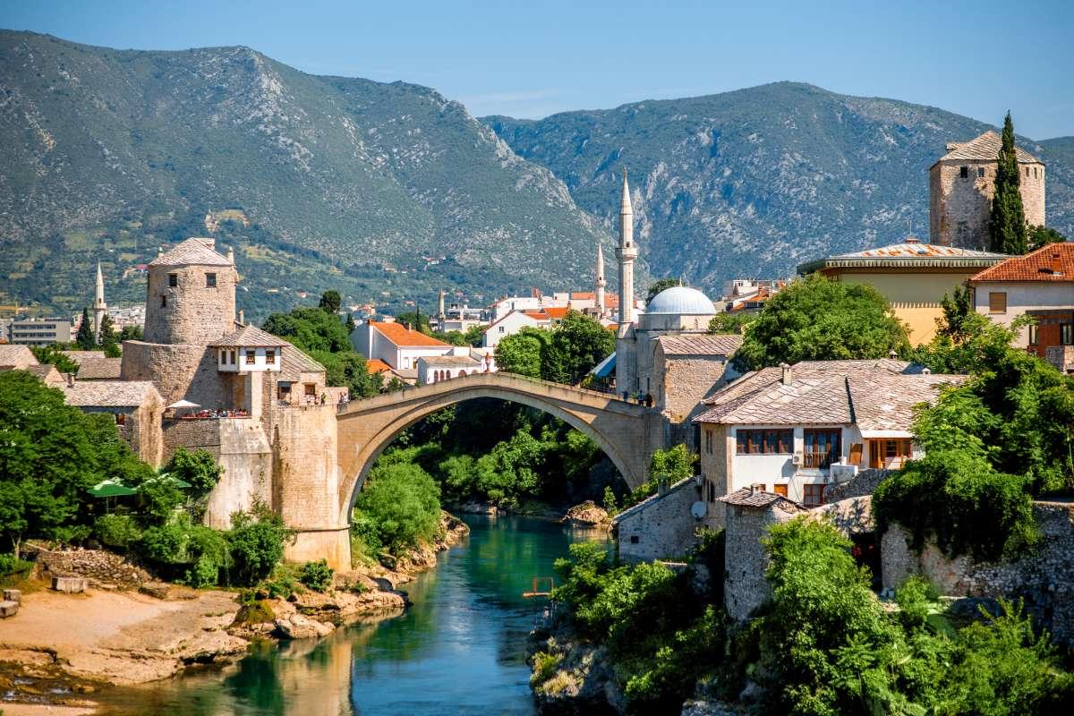Mostar city view