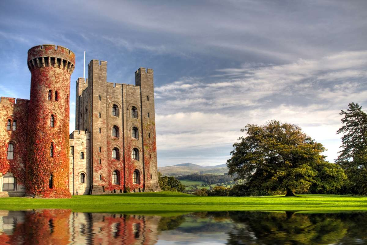 Penrhyn Castle in Wales seen on summer youth travel program