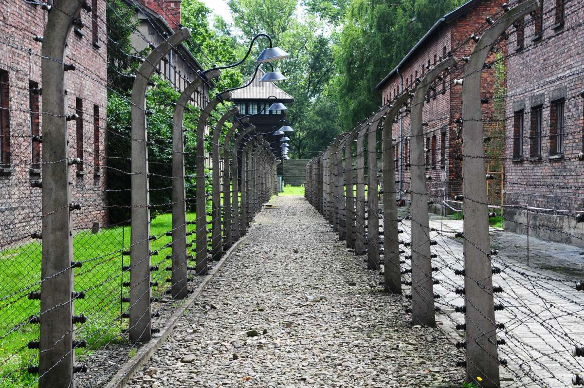 View of Auschwitz seen on summer teen travel program