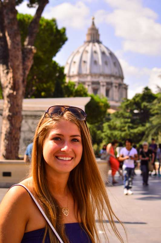 Students explore Vatican City on their summer teen tour of Rome, Italy.