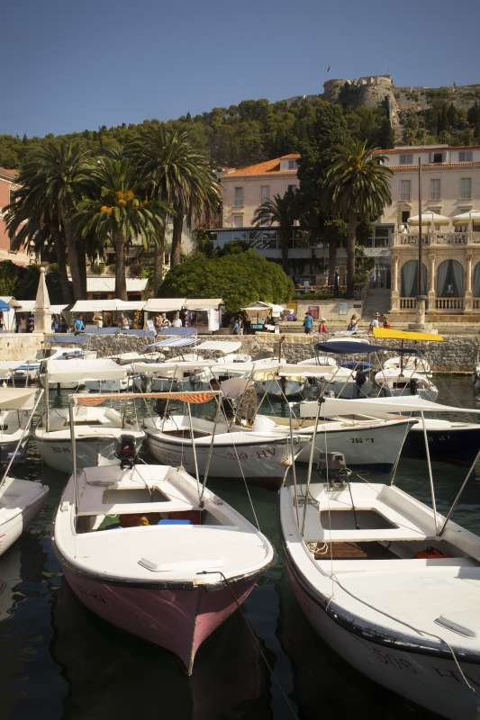 Croatia island harbor seen on teen summer travel program