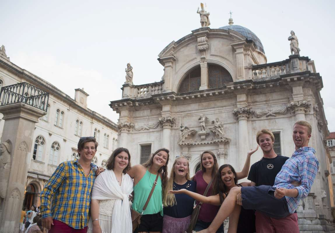Teen travelers in Croatia on summer youth travel program