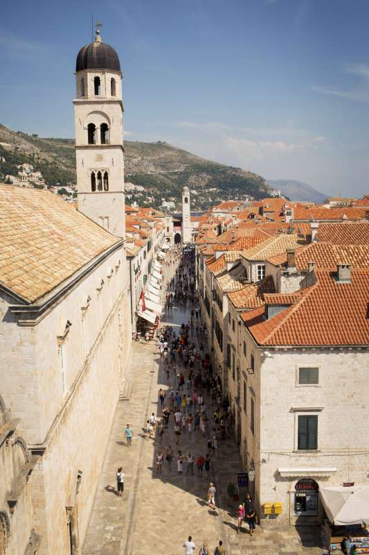 View of Croatia seen on summer teen travel tour