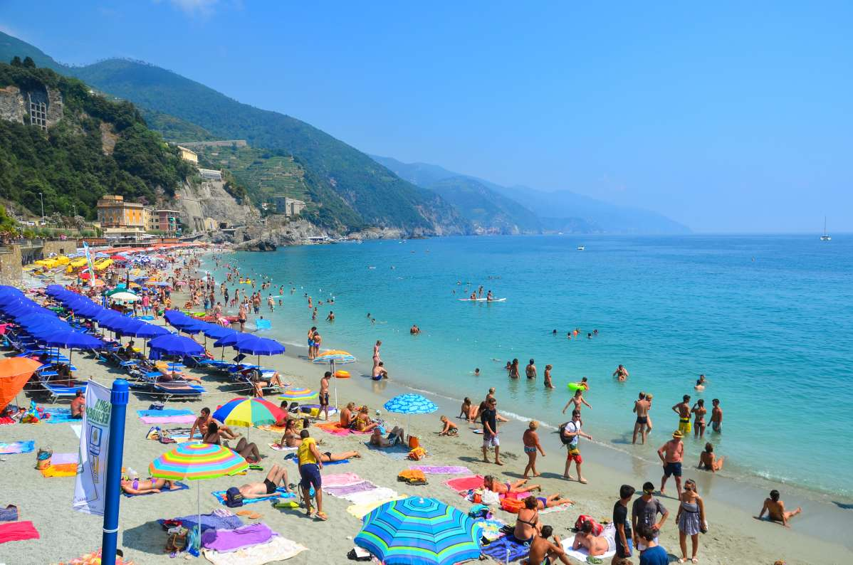 View of Mediterranean Sea in Cinque Terre seen on summer teen travel program