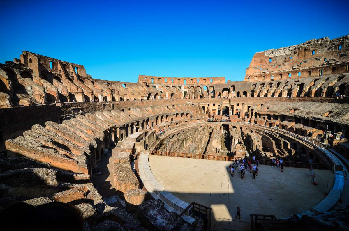 High school students discover the Colosseum on their summer teen tour to Italy.