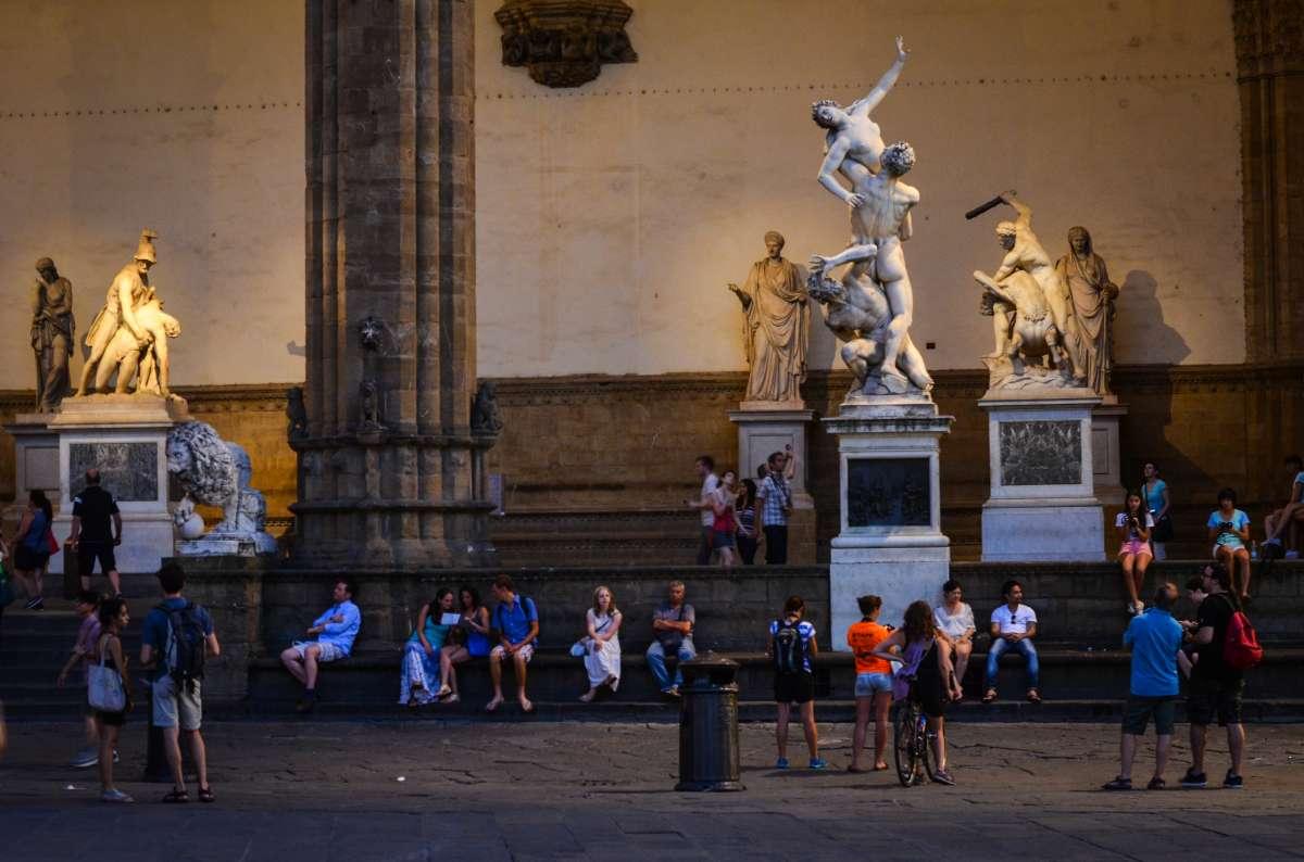 Teens exploring Florence Renaissance art during summer travel program