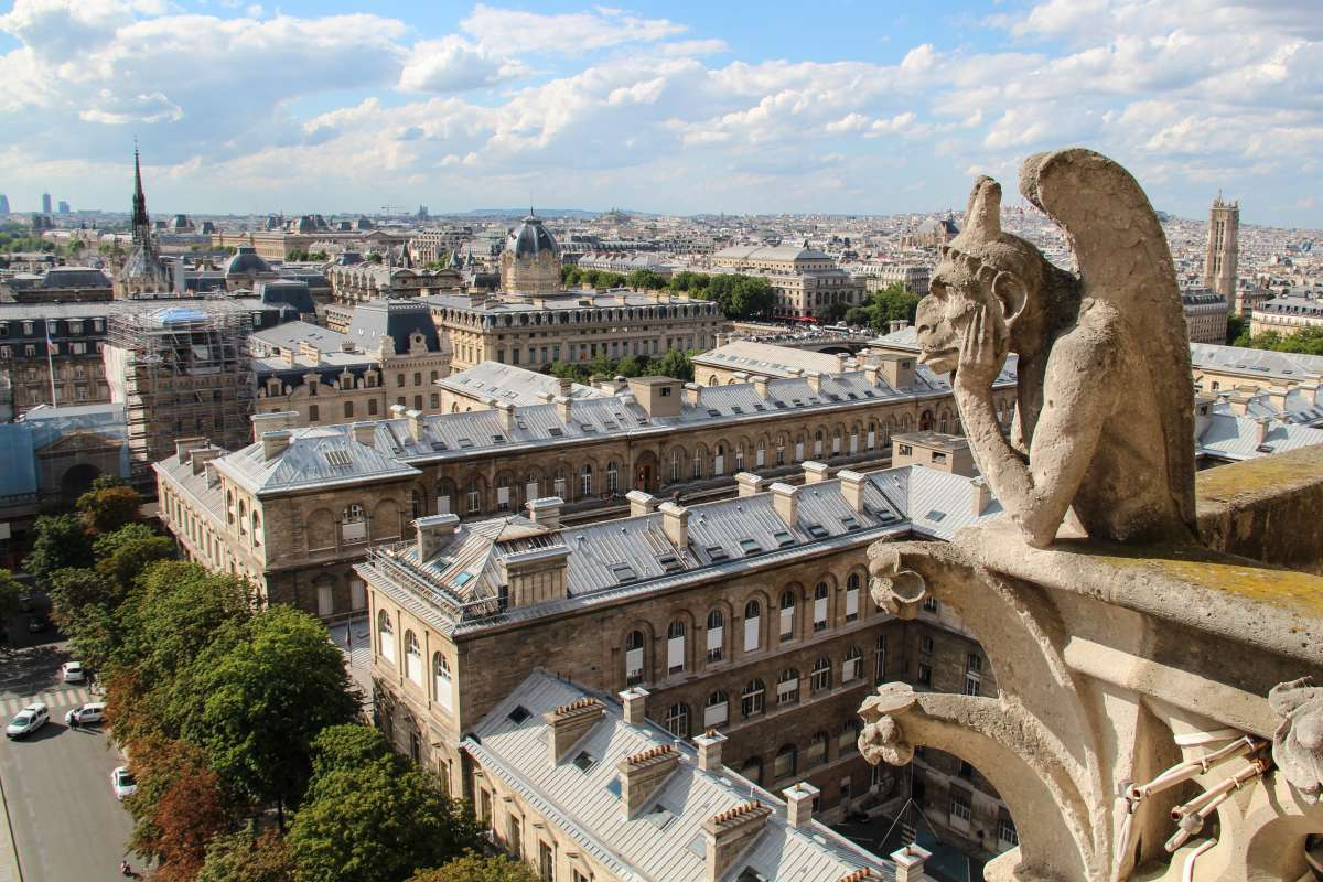 View from Notre Dame in Paris seen on summer French language immersion program for teenagers