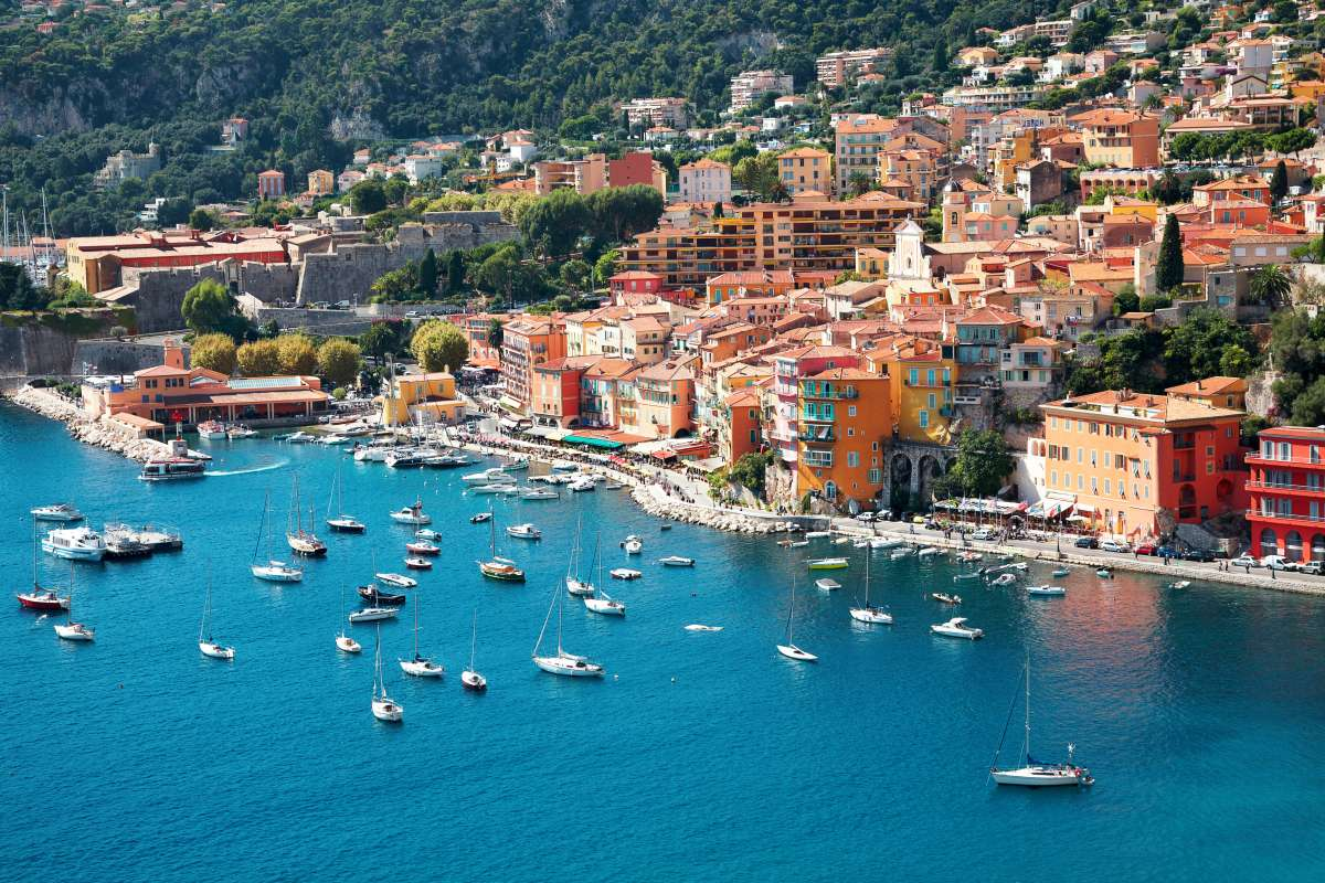 Villefranche in French Riviera seen on summer teen travel language immersion program in France
