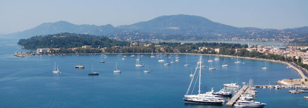 High school travelers capture the harbor in Corfu on their summer teen tour to Greece.