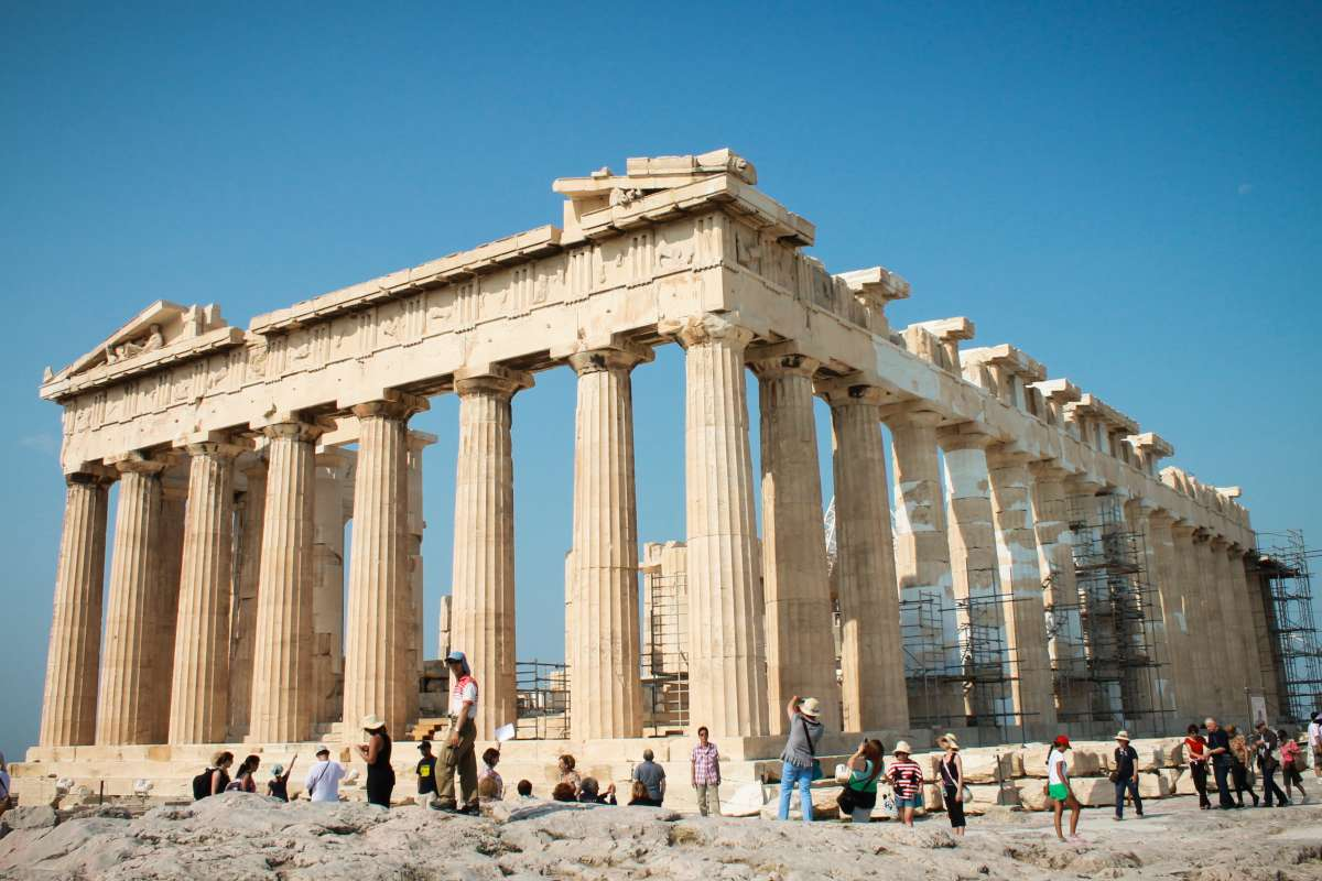 Acropolis of Athens visited by teen travelers during summer youth travel program in Greece