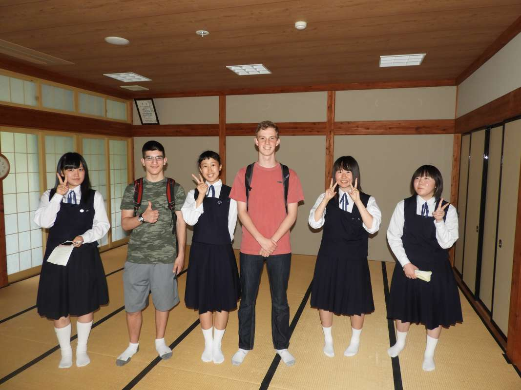 American students meet Japanese students during summer youth travel program in Japan